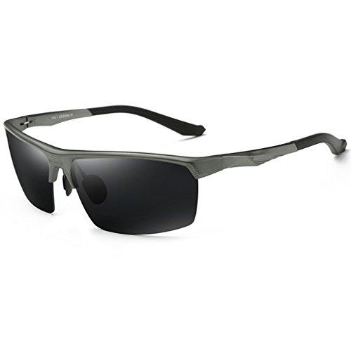 conduite Couleur aviation conducteur Lunettes lunettes Frame de hommes frame soleil Gold conduite miroir Gun de polarisées de Color soleil Lunettes w6qw8g