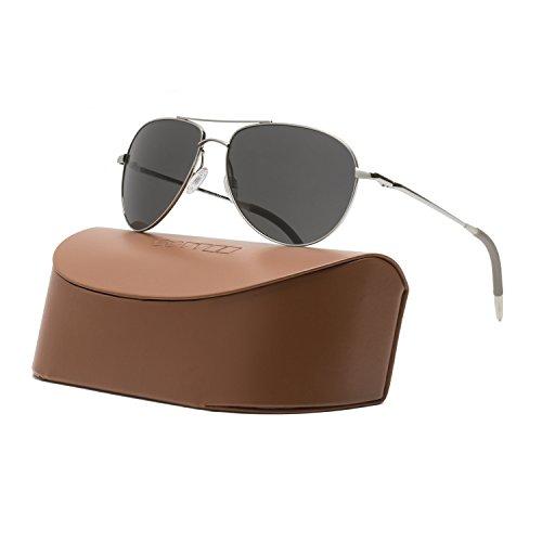 Oliver Peoples Unisex Benedict 59 Silver/Graphite Polarized Vfx+ Sunglasses