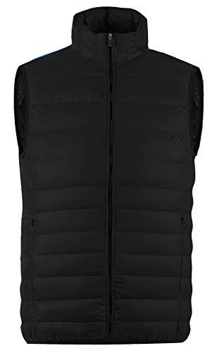MADHERO Men Puffer Vest Lightweight Sleeveless Jacket Packable Puffy Black M