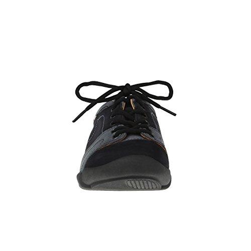 tessamino Damen Schnürer aus echtem Leder | Freizeit | Weite G & H | für Einlagen Blau