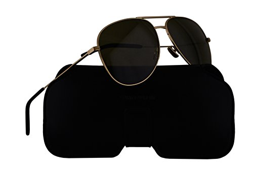 Saint Laurent Sunglasses Classic 11 Gold w/Green Lens 59mm 008 - Aviator Sunglasses Laurent Saint 11 Classic