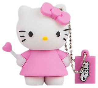 Tribe Hello Kitty - Memoria USB Flash Drive 2.0 de 4 GB con llavero, diseño Ángel