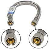 3/8'' Comp X 3/8'' Comp X 12'' Stainless Steel Faucet Supply Line