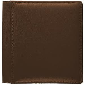 ROMA BROWN smooth-grain leather #133 magnetic page album by Raika - by Raika®