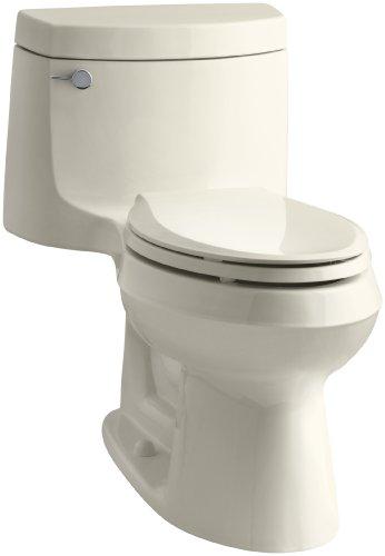 Kohler K-3828-47 Cimarron Comfort Height Elongated Toilet, Almond, 1-Piece