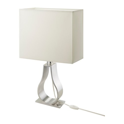 IKEA Table lamp, Off-White, Nickel Plated