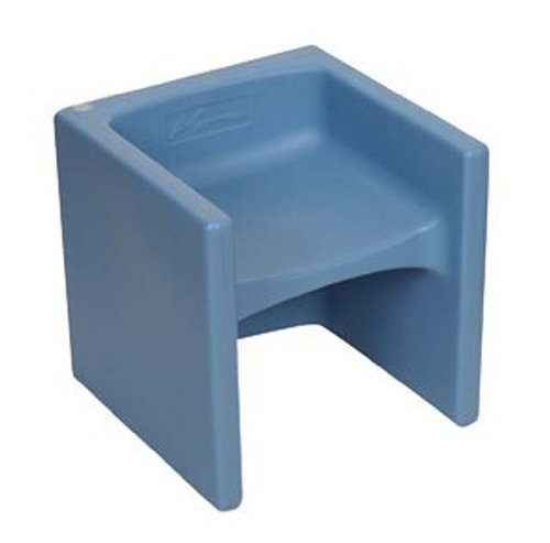Children's Factory Cube Chair Sky Blue - Club Lightweight High Chair