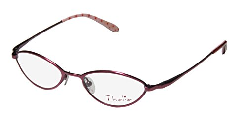 [Thalia Dia Childrens/Kids/Girls Designer Full-rim Eyeglasses/Eyewear (44-16-125, Berry)] (Makers Mark Costume)