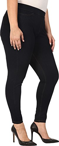 HUE Women's Plus Size Curvy Denim Leggings, Midnight Rinse, XXL