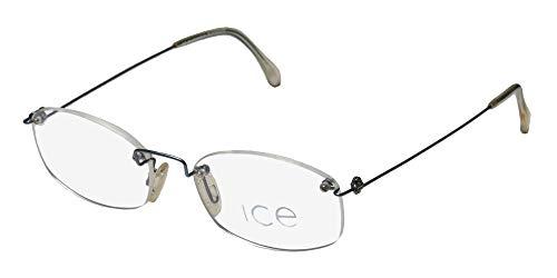 Ice 5 Mens/Womens Designer Rimless Light Weight Drill Mount Sleek Eyeglasses/Eyewear (50-18-140, ()