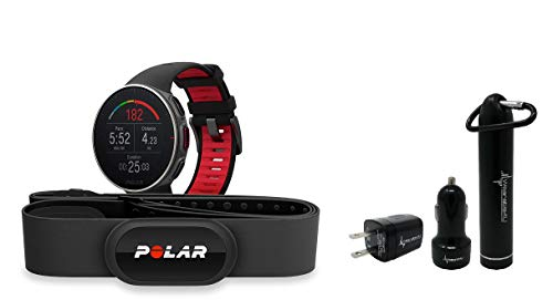 Polar Vantage V Pro Multisport GPS Watch and Wearable4U Ultimate Power Pack Bundle (Titan W H10 HRM Strap)