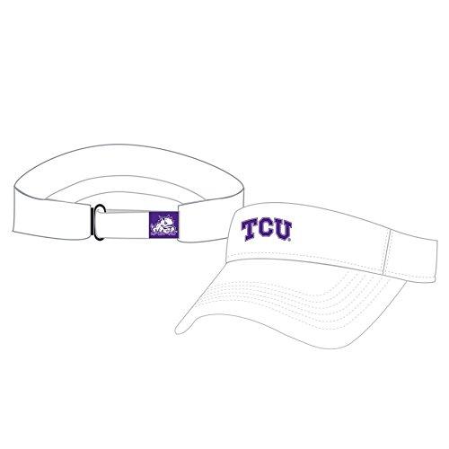 Frog Visor - NCAA TCU Horned Frogs Hawkeye Mfit Visor, One Size, White