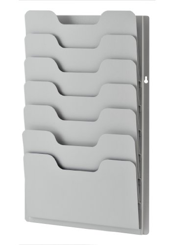 - Buddy Products 7-Pocket Data Rack, Steel, 13.38 x 2 x 21.63 Inches, Platinum (0810-32)