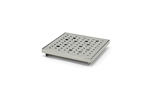 Front of the House BPT036BSS22 Footed Drip Tray, 1'' Height, 6'' width, 6'' Length, Stainless Steel (Pack of 6) by Front of the House
