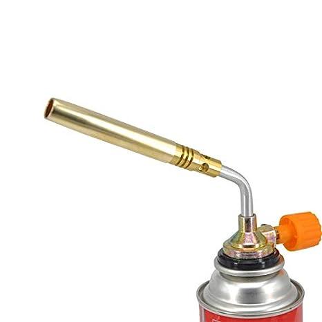 COMFET Heat Shrink - Soplete Manual para Barbacoa, Soldador de Gas butano, Llama de Cobre Completa, Pistola de Doble Tubo: Amazon.es: Jardín