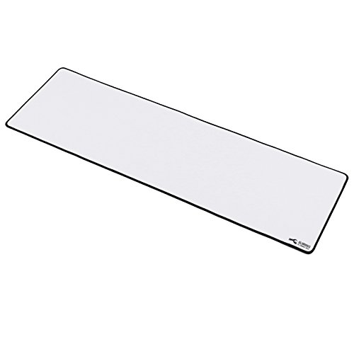 "Glorious Extended White Gaming Mouse Mat / Pad - XXL Large, Wide (Long) White Mousepad, Stitched Edges | 36""x11""x0.12"" (GW-E)"