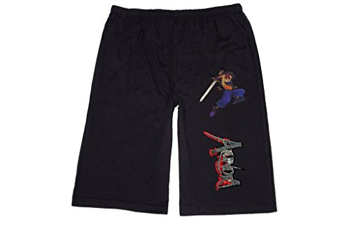 XJX Men's alundra 010 vaich Lounge breeches Shorts Pants L Black