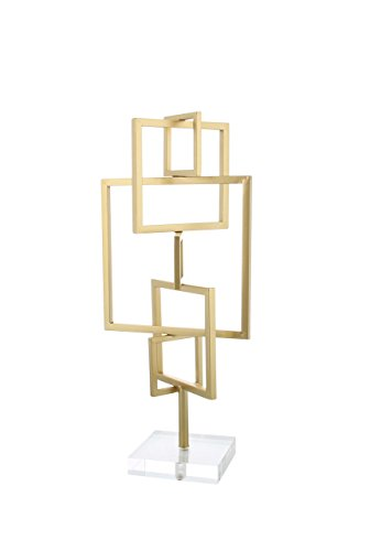 Deco 79 56943 Iron Abstract Sculpture with an Acrylic Base 18