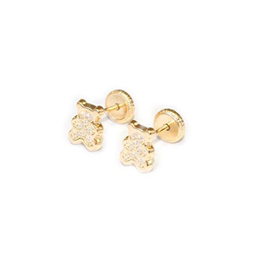 Boucles d'Oreilles Enfant teddy Or Jaune 18 Carats (750/1000)
