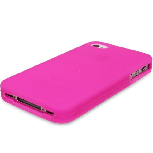 Fosmon Soft Silicone Skin Case for iPhone 4/4S (Pink)