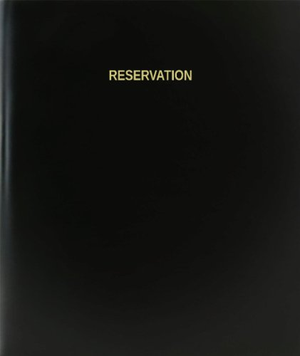 BookFactory® Reservation Log Book / Journal / Logbook - 120 Page, 8.5'x11', Black Hardbound (XLog-120-7CS-A-L-Black(Reservation Log Book))