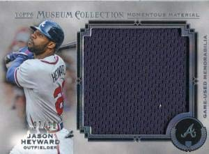 (Jason Heyward Unsigned 2013 Topps Museum Collection Jersey Card - Baseball Game Used Cards)