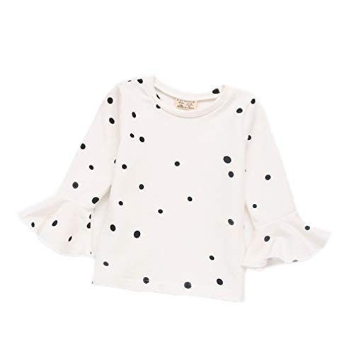 Ginger Rash Guard - VADOLY Autumn Baby Girls Dot Tops Shirts Children Kids Cotton Long Sleeve Tops T Shirt