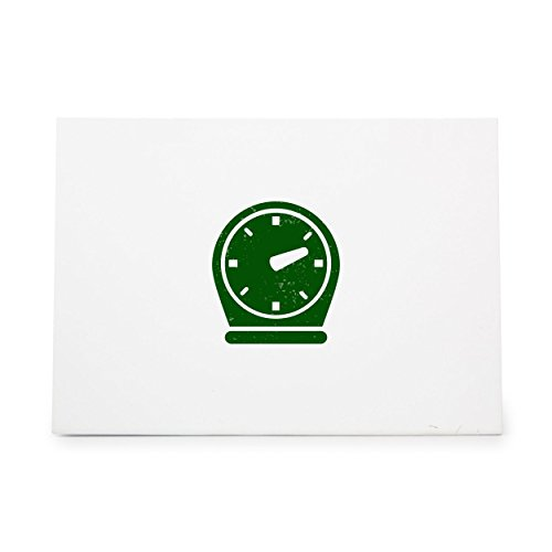 (Clock Hour Minute Second Stopwatch Style 8486, Rubber Stamp Shape great for Scrapbooking, Crafts, Card Making, Ink Stamping)