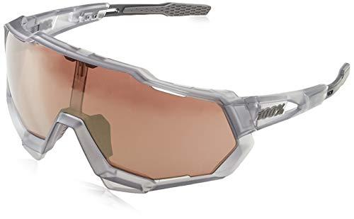 Grey Chrome Lens - 100% Unisex-Adult Speedlab (61023-255-76) Speedtrap-Matte Translucent Crystal Grey-HiPER Silver Mirror Lens (Gray, Free Size)