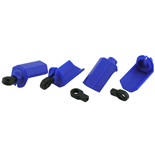 (RPM Shock Shaft Guards for Traxxas and Durango 1/10 Scale Shocks, Blue)