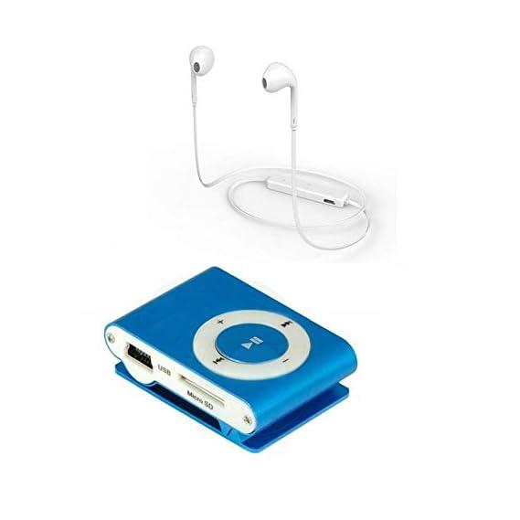 Shaarq S6 Bluetooth Headphone with Compact Mini Mp3 Player