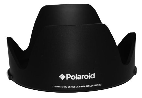 """Polaroid Studio Series Lens Hood With Exclusive Pushbutton Mounting System - no more 'screwing around"""" With Old Fashioned Threaded Hoods For The Canon Digital EOS Rebel SL1 (100D), T5I (700D), T5 (1200D), T4i (650D), T3 (1100D), T3i (600D), T1i (500D), T2i (550D), XSI (450D), XS (1000D), XTI (400D), XT (350D), 1D C, 70D, 60D, 60Da, 50D, 40D, 30D, 20D, 10D, 5D, 1D X, 1D, 5D Mark 2, 5D Mark 3, 7D, 6D Digital SLR Cameras Which Has Any Of These (60mm, 50mm 1.8) Canon Lenses"""