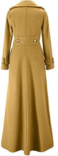 Casual Vintage Outerwear Uni Manche Manteaux Parka Femme Hiver Revers Branché Slim Fit Manches Épaisseur Longues Gelb Biran Trench Breal Warm Elégante qACwZU6