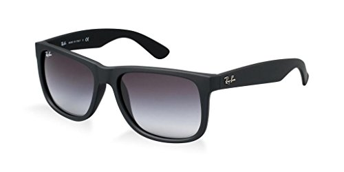Ray Ban RB4165 601/8G 51mm Rubber Black Justin Sunglasses Bundle-2 Items by Ray-Ban