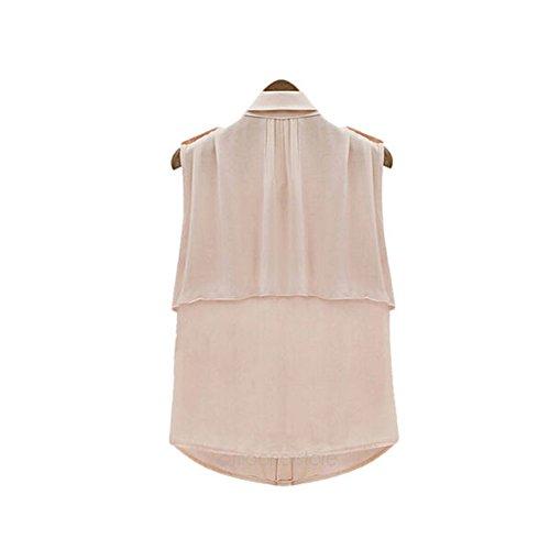 LOBZON Damen Blusenbody Bluse, Einfarbig