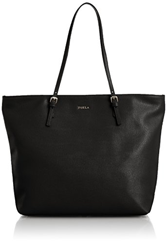 Furla D-light Leather Tote Bag in Onyx