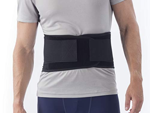 NYOrtho Back Brace Lumbar Support Belt - for Men and Women | Instantly Relieve Lower Back Pain | Maximum Posture and Spine Support, Adjustable, Breathable with Removable Suspenders | Large 34-38 in.