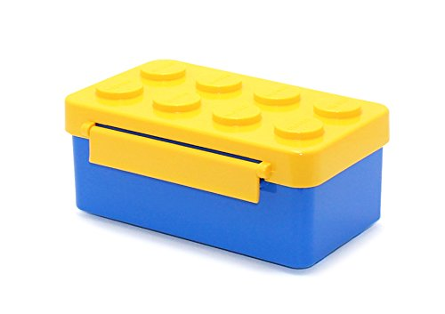 Stackable Lunch Box Bento Box Container Salad Box Oxford Block Brick Design For Children Kids Family Picnic Travel (Yellow1pBoxOnly)