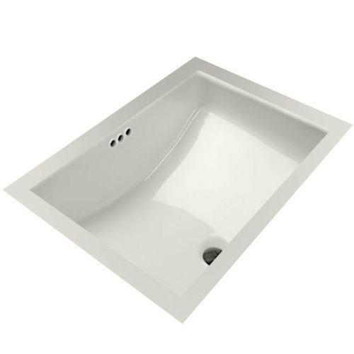 Mirabelle MIRU1812 18-11/16'' Porcelain Undermount Bathroom Sink with Overflow, White