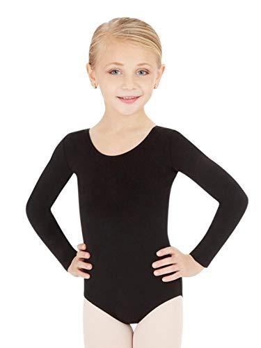 Capezio Big Girls' Classic Long Sleeve Leotard, Black, Medium (8-10) by Capezio