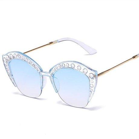 de Gran Plata de Blue Marco Acetato Marco Alta Transparente Tamaño de Gran Óptico Sol Tamaño Gafas Moda de de Gafas Sol Calidad de Mujer GGSSYY Gran Negro PqB4v