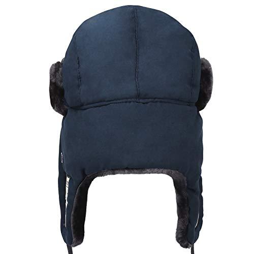 mysuntown Trooper Winter Hats Cold Weather Snow Gear Bomber Hat Russian  Warm Fur Hat (Dark 81009162c778