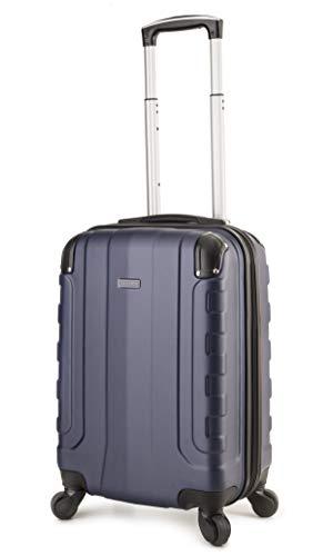 TravelCross Chicago 20'' Carry On Lightweight Hardshell Spinner Luggage - Dark Blue