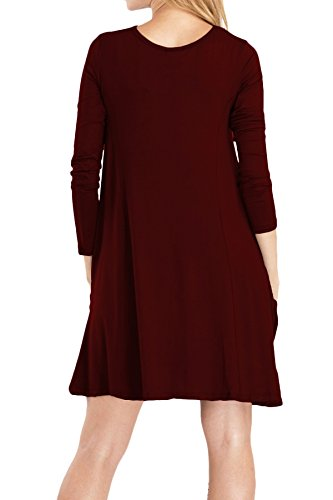 Delle Donne Omzin Abiti Da Festa 1-vino Rosso