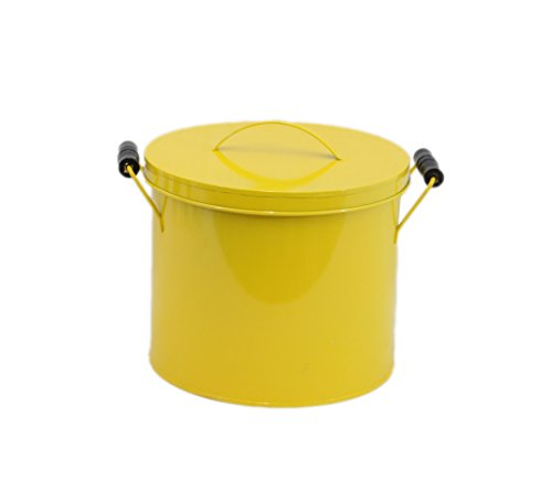 enamel bucket with lid - 5