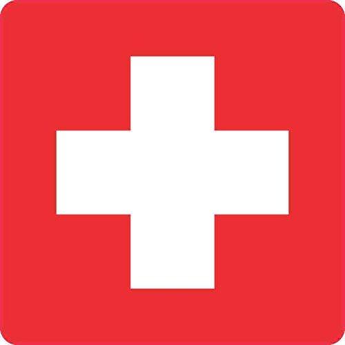 5in x 5in Cross Medical Symbol Sticker