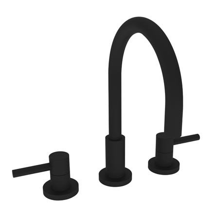Newport Brass 1500 East Linear Double Handle Widespread Lavatory Faucet with Met, Flat Black