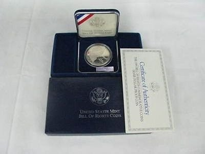 - 1993 Bill of Rights Proof Silver Dollar Commemorative United States Mint Coin