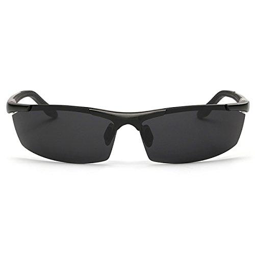 Gafas Pesca Sol Al Gafas Aluminio Magnesio Black Sol De Hombres De Libre Aire Espejo Espejo De Medias Espejo Black Gafas Y Conducir Polarizadas De Deportivo RPqaTwHx
