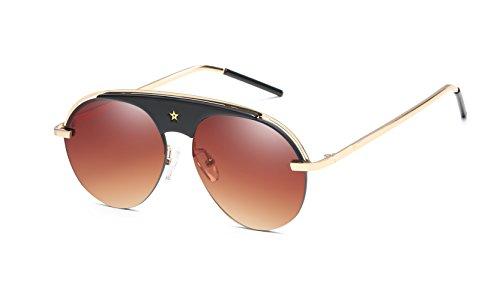 FEISEDY UV Evolution Real Pop Aviator Sunglasses Acetate Composite Star Frame - Sunglasses Aviator Real